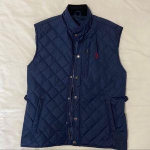 Men's US Polo Assn. Navy Puffer Vest. Size XL